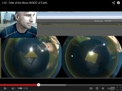 Fragment z filmu o animacji ruchu księżyca i słońca wewnątrz ziemi