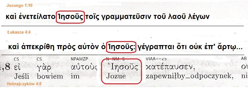 Hebrajczyków 4,8;przekład interlinearny