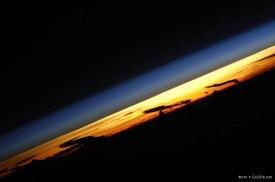 Fota horyzontu z ISS na wysokości 429/404 km
