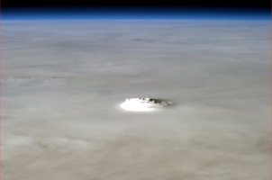 Widok horyzontu z kosmosu
