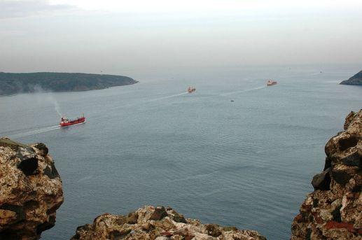 Yoros w Turcji / biblijna Jerozolima , kolo niej przepływały galery Izajasza 33:20,21 wg. LXX