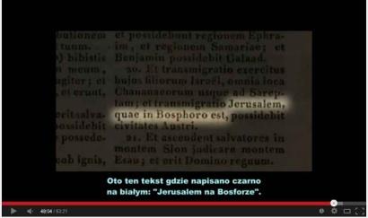 Abdiasza 1:20 wg przekładu Wulgaty , łacińskiego przekładu Biblii ST i NT: Jerusalem na Bosforze