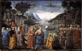 Ghirlandaio Domenico rok 1481-1482 powołanie apostołów Piotra i Andrzeja.
