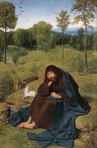 Geertgen tot Sint Jans ok. 1490 – 1495 Jan Chrzciciel na pustkowiu.