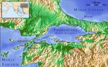 Mapa cieśniny Bosfor, Biblijny Jordan