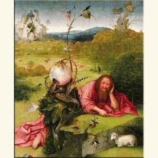 """Hieronim Bosh """"Jan Chrzciciel na pustyni""""... ??? 1505 r."""