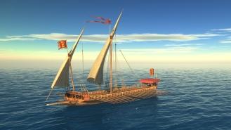 Galera: jedyny okręt w warunkach niezależnych od kierunku wiatru mógł sforsować silny prąd powierzchniowy w cieśninie Bosfor w drodze do Jerozolimy od południa: Izajasza 33:20,21 wg . LXX, takie okrety przepływały obok Jerozolimy /obecnie Yoros w Turcji