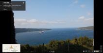 Widok z Yoros (Zamek) / Starożytna, Biblijna Jerozolima, w dali Morze Czarne