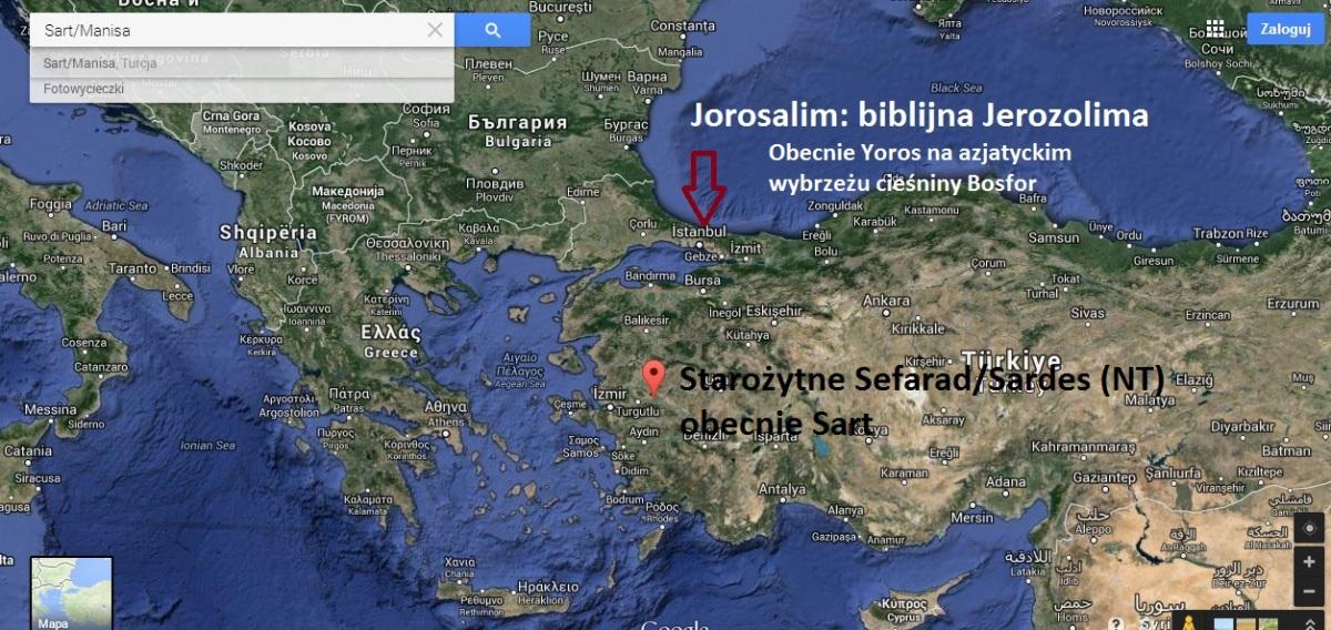 sefarad/sardes i starożutna Jerozolima