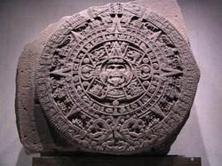 Mandala , motyw życia wewnątrz ziemi z otworami na biegunach , jako kalendarz majów.