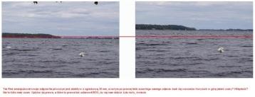 Zdjęcie Zamosa alias Obnażam zwiedzenie z Youtube , gdzie obrobil przyblizenie obrazu w ...fotoszopie. Widac to po elementach obrazu: falach , łabędziach,żagłowkach. W przyblizeniu optycznym jest to nie możliwe, dlaczego ? bo nawet chwila przyblizenia zmieniula by układ fal , a co mamy?, identyczne zdjęcie. Zdjęcie z Nieporętu nad Zalewem Zegrzyńskim.